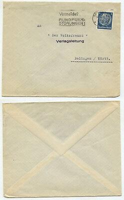 05142 - Stempel Vermeidet Rundfunkstörungen - Berlin 14.9.1933 - Der Volksfreund üBerlegene Leistung