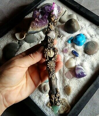 Hand Turned Wooden Wand Pendant Necklace