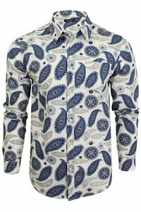 Brave-Soul-039-Regalia-039-Mens-Paisley-Long-Sleeved-Shirt