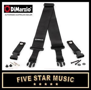 NEW-Dimarzio-Cliplock-Guitar-Strap-Straplocks-Black