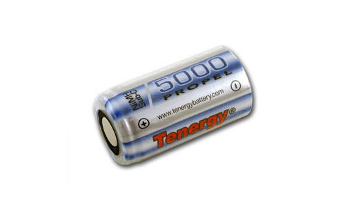 NO TABS Tenergy C 5000mAh NiMH Flat Top Rechargeable Battery