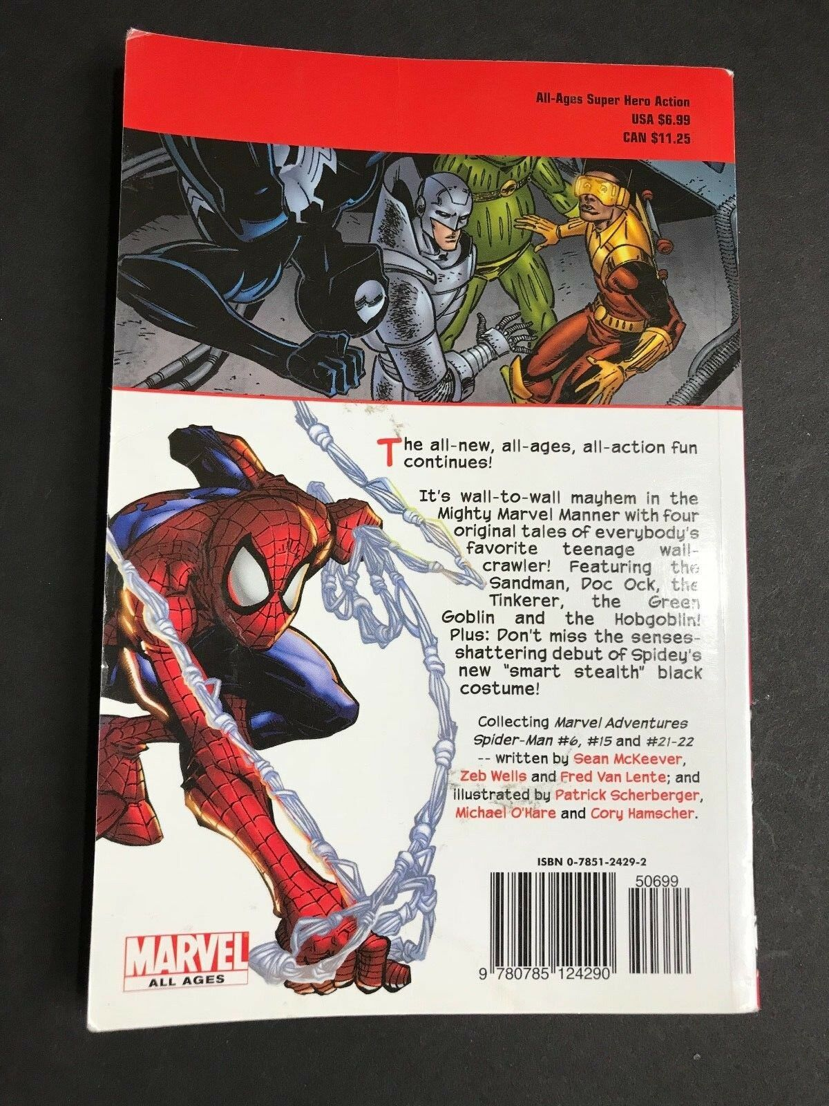 The Black Costume Vol  6 by Peter David, Zeb Wells, Kitty Fross and Sean  McKeever (2007, Paperback)