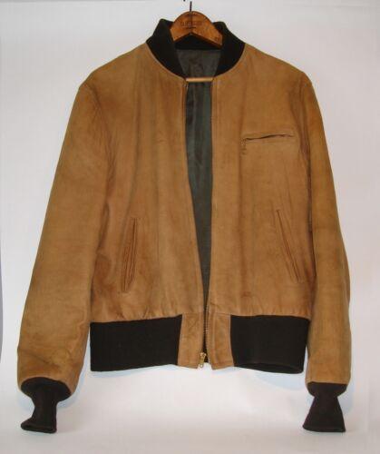 Woman's Hermes Type Bomber Jacket - Suede