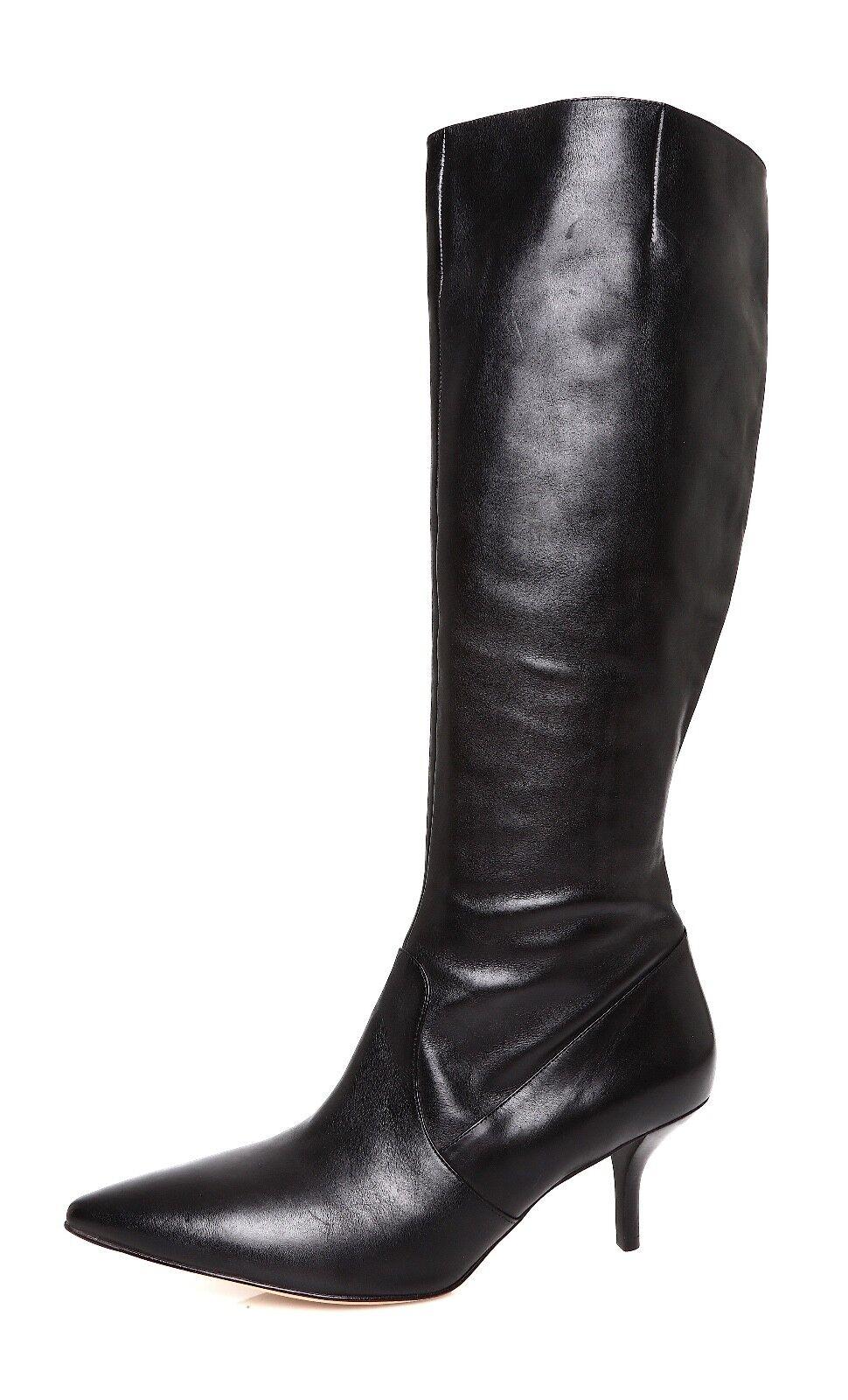 Via Spiga Garyn Mid Heel Women's Black Leather Boot Sz 9.5 M 4497