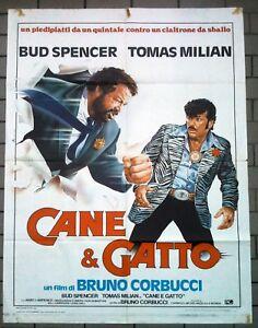 Cane E Gatto Manifesto Poster Bud Spencer Tomas Milian Corbucci