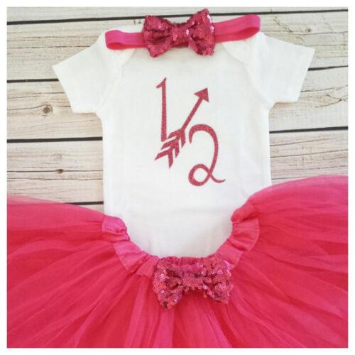 Half birthday outfit,Hot Pink half bodysuit,Hot Pink glitter birthday Handmade