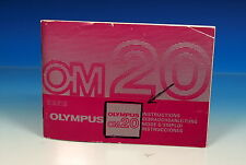 Olympus OM 20 Bedienungsanleitung Instructions Mode d'emploi E/G/F/S  - (90086)