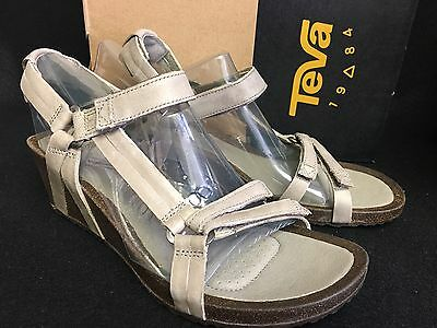 b247a2f2798f Teva Ysidro Universal Wedge Leather Womens Sandal Low Heel Shoes ...