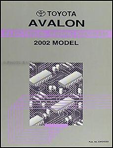 2002 Toyota Avalon Electrical Wiring Diagram Manual NEW Original OEM  Schematics | eBayeBay