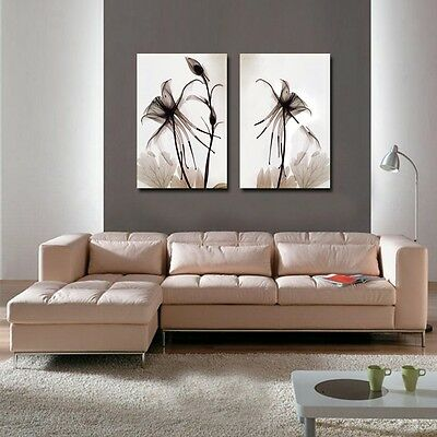 Canvas prints wall art panorama modern photo poster flowers decor abstract 01601