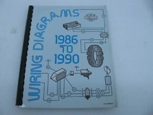 Details about 1986 to 1990 Harley Davidson Wiring Diagrams 99948-90  Sportster Softail Dyna FXR