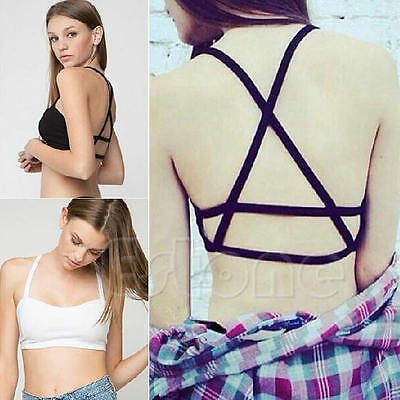 Sexy Lady Vest Crop Top Bralette Tank Cami Blouse Bustier Tops Padded Cutout Bra