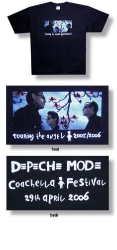 Depeche Mode-Group-Coachella Festival-2006 Tour-Black T-shirt