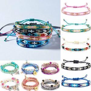 Women-Natural-Stone-Boho-Bohemian-Beaded-Bracelet-Bangle-String-Handmade-Gift