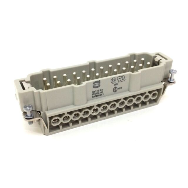 Connector Plug 09-33-024-2601 Harting Han-24-E-STI-S 09330242601