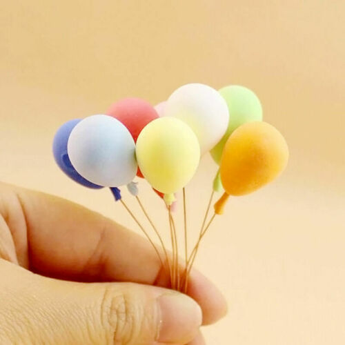 Ba Y5Q5 8PCS//Set 1:12 Dollhouse Miniature Balloon Birthday Party Foam ation Hot