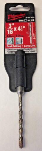 """Milwaukee 48-20-7410 3//16/"""" X 2/"""" X 4/"""" 2 Cutter SDS Plus Carbide Hammer Drill Bit"""