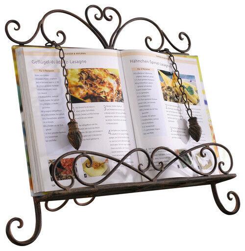 Antique Metal Cookbook Stand Book