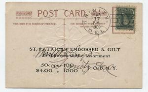 1909-Trinity-DE-doane-on-sample-st-patricks-postcard-f821-118
