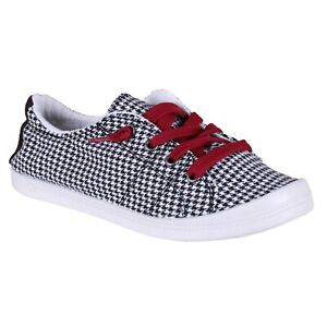 women's jellypop dallas black/white houndstooth lace up