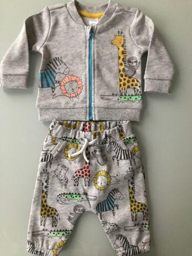 Baby Outfit Set 3 teilig Bluse Hose Bio-Baumwolle Dino Giraffe 100/% Baumwolle