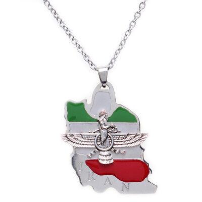 Persian Farvahar Necklace Chain Persia Design Gift Pahlavi Faravahar Tehran Art