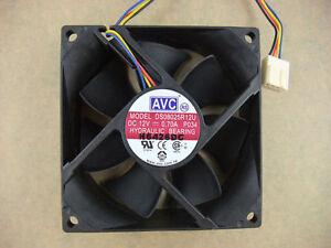 AVC-DS08025R12U-8025-80mm-x25mm-Fan-12V-4Pin-0-70A-PWM-3Pin-Compatible-601