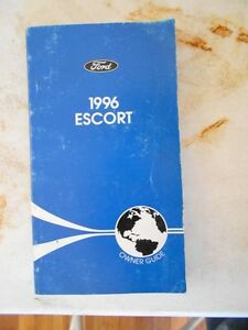 ford escort factory complete original owners manual