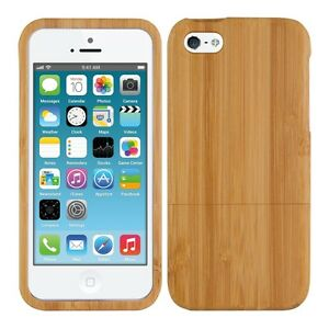 kwmobile-Holz-Schutz-Huelle-fuer-Apple-iPhone-SE-5-5S-Bambusholz-Natur-Hellbraun