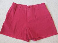 Women's Abercrombie & Fitch Dark Red Jean river Shorts Size 8 Frayed Edge