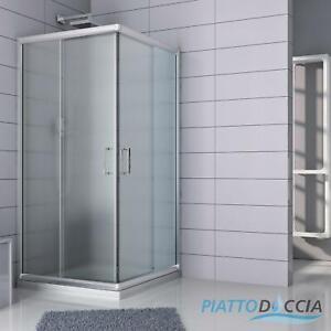 80x80cm Eckeinstieg Duschkabine Glas Schiebetür Duschabtrennung Dusche Duschwand