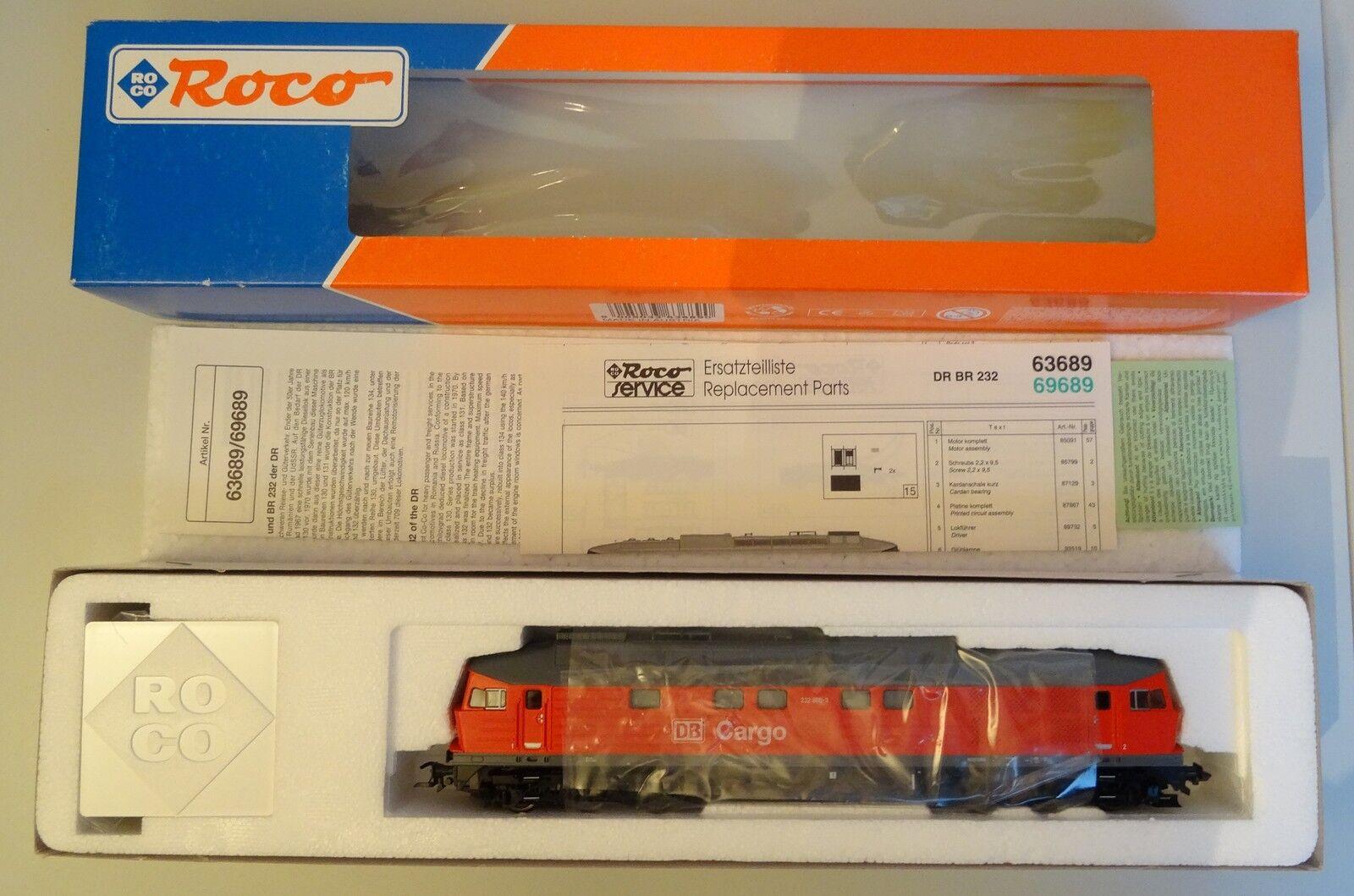 Roco h0 diesellok 63689 br 232 800-3 el cargo DB en OVP