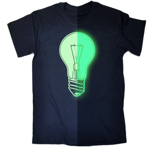 Glow in the Dark Luce Globo Lampadina T-shirt Night Party Compleanno intelligente