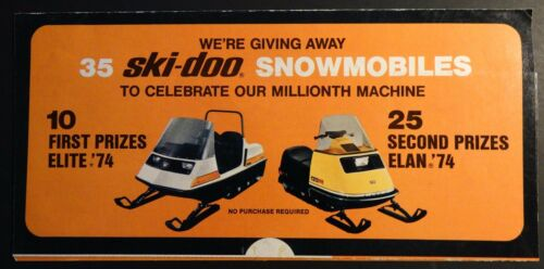 1974 SKIDOO ELITE & ELAN SNOWMOBILE MAIL OUT SALES BROCHURE 257