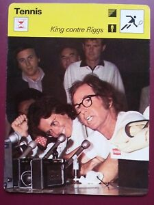 TENNIS-carte-fiche-photo-BILLIE-JEAN-KING-contre-BOBBY-RIGGS