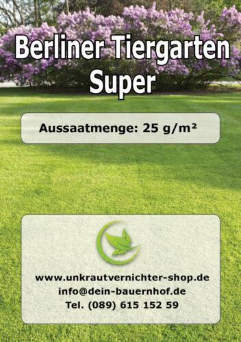 10kg Rasensaat Berliner Tiergarten Super RSM Qualität