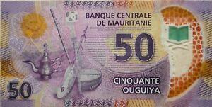 Mauritania 2017 50 Ouguiya Polymer Note A 6805035 AB