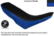 ROYAL BLUE & BLACK VINYL CUSTOM FITS GILERA GSM 50 DUAL SEAT COVER ONLY