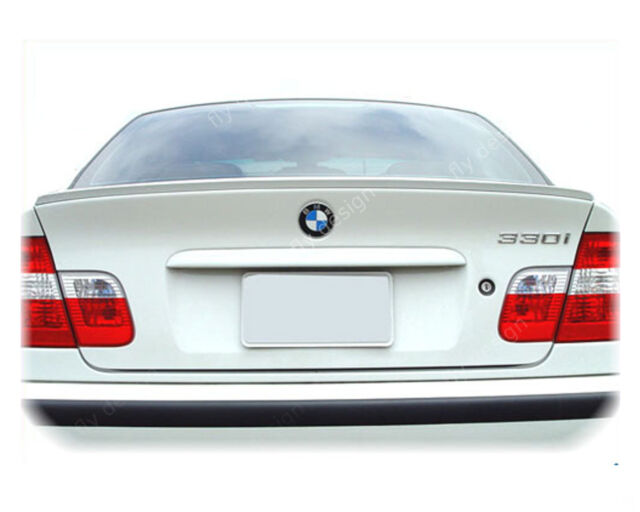 Spoiler Lip for BMW e46 3er Finished Painted Demolition Edge Rear Wing Tailgate