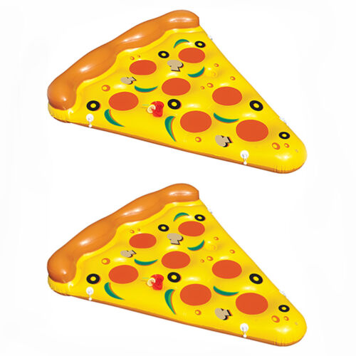 2-Pack Of Swimline Giant Inflatable Pizza Slice Float Rafts2 x 90645