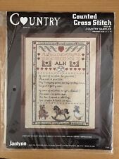 Janlynn Counted Cross Stitch Kit Country Sampler #40-41 11 X 14