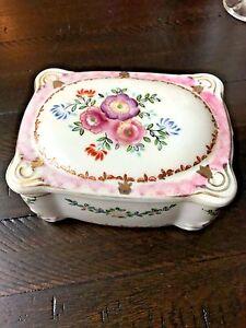 Vintage-Ceramic-rectangular-Trinket-Box-Made-in-Occupied-Japan