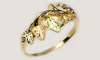 Handcrafted SD Black Hills 12kt Red Green Gold Leaf Ring Ancient Egypt God Flesh