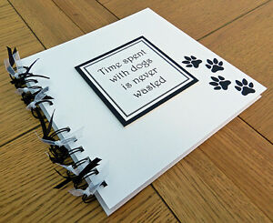 Pet-dog-scrapbook-8-034-x8-034-photo-book-memory-album-gift-puppy-can-be-personalised