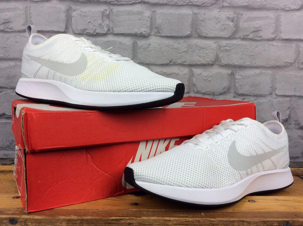 Nike Pour Hommes UK 7 7 7 EUR 41 Dualtone Racer Blanc Platine Baskets 03f1ba