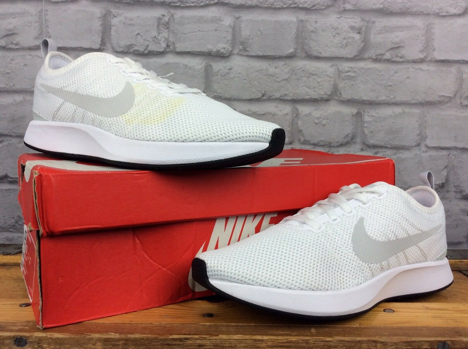 NIKE MENS DUALTONE RACER WHITE PLATINUM TRAINERS Comfortable Cheap and beautiful fashion