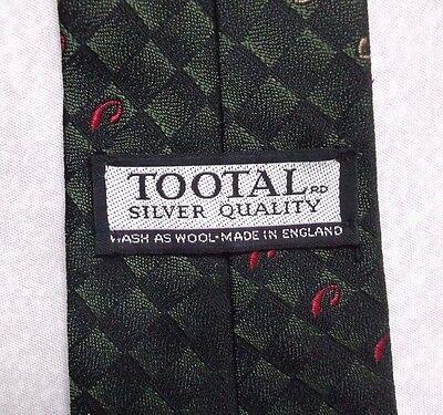 Ambizioso Vintage Tootal Cravatta Da Uomo Cravatta Retro Argento Moda Qualità Verde Scuro-mostra Il Titolo Originale Funzionalità Eccezionali