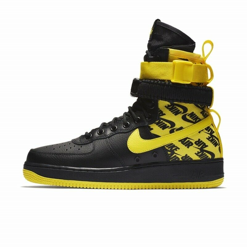Nike SF Air Force 1 Hi Men's Size 8 AR1955-001 Yellow New With Box
