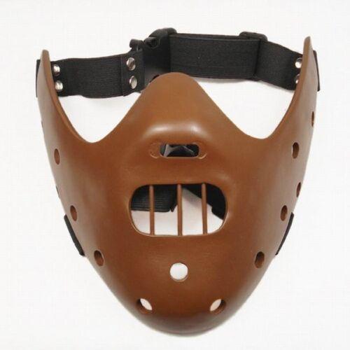 Solid Harz Hannibal Maske Halloween Mund biss Wächter Kostüm Lector Kannibale