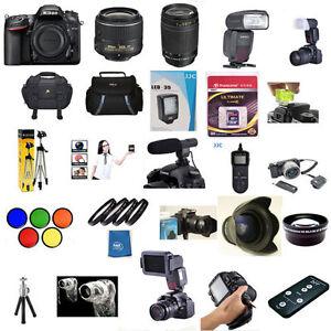 Nikon D5500 W 18-55mm VRII 70-300mm G FLASH 5 Years Warranty 60 Piece Pro KIT